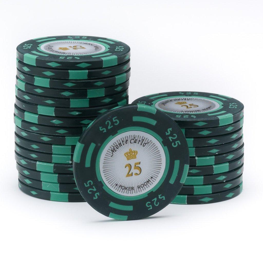 .25 .50 poker chips