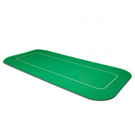 Poker Mat Rectangular Green