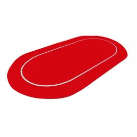 Poker Mat Oval Red
