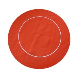 Poker Mat Round Red