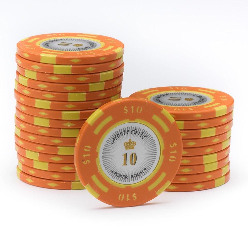 25 $10 MONTE CARLO CASINO POKER CHIPS
